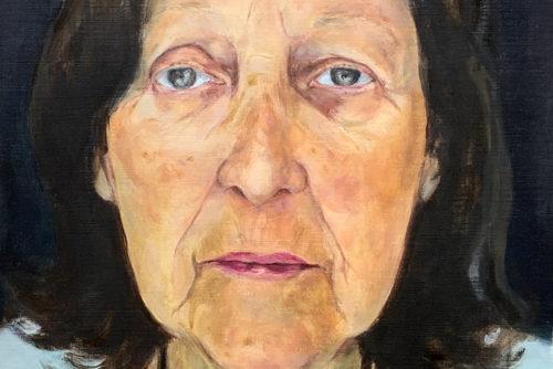 Sylvia Wolf Malwerkstatt Portrait in Oel