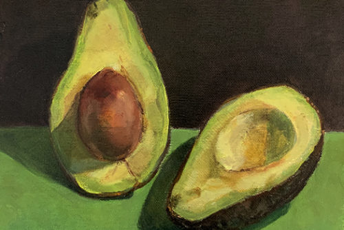 Sylvia Wolf Malwerkstatt Avocado