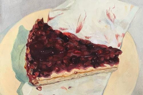 Sylvia Wolf Malwerkstatt Beerenkuchen in Oel
