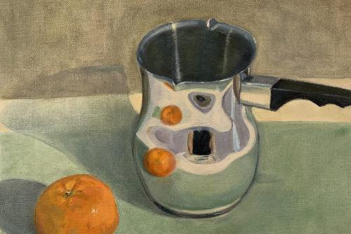 Sylvia Wolf Malwerkstatt Mandarine mit Milchtopf